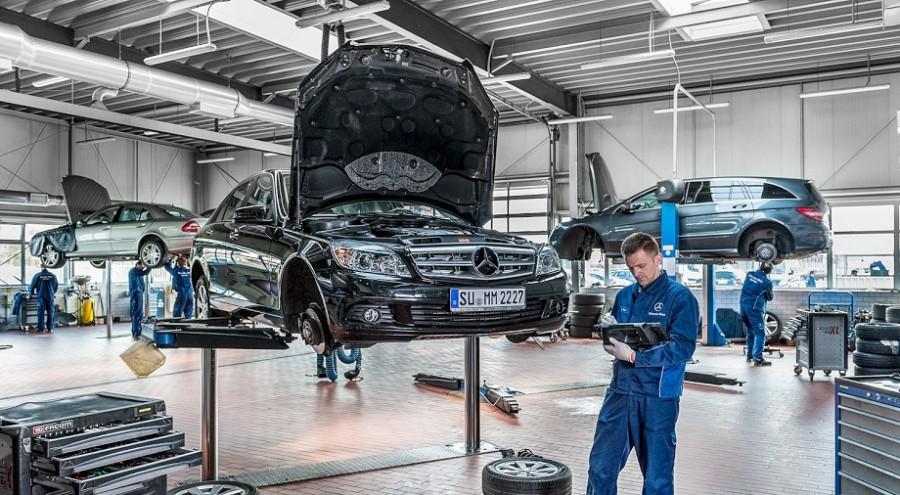 Serwis Mercedesa, fotografia reklamowa, fotografia korporacyjna